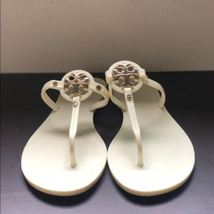 Tory Burch White Jelly Flip Flops - Size 7